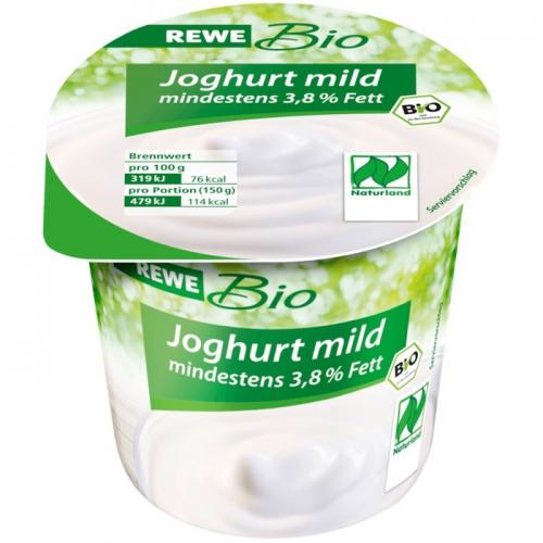 Joghurt mild, mindestens 3,8 % Fett, Dezember 2017