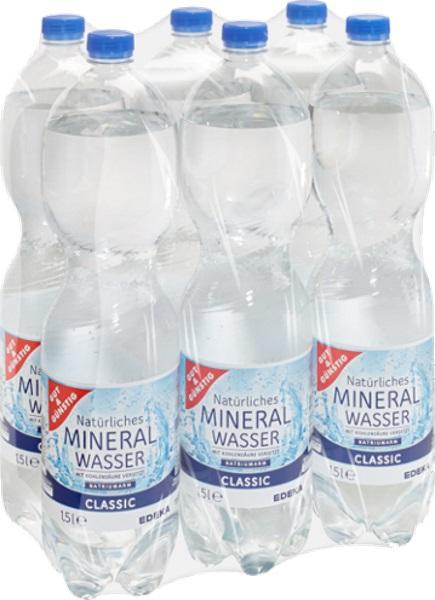 Mineralwasser classic, 6x1,5l, Mai 2018