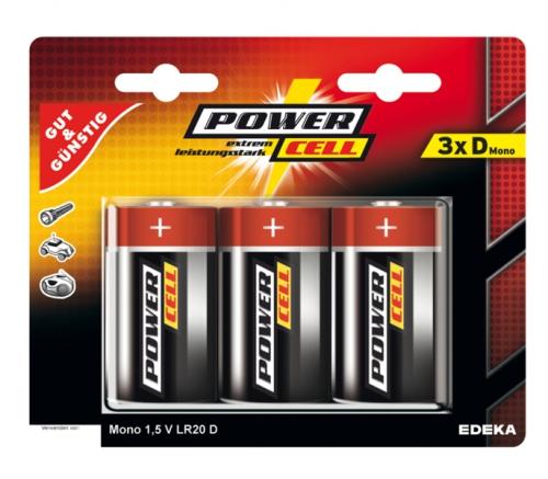 Batterien, 1,5 V, Mono, D, LR20, Januar 2018