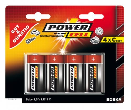 Batterien, 1,5 V, Baby, C, LR14, Januar 2018