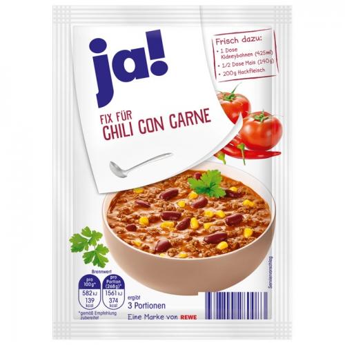 Fix für Chili con Carne, Januar 2018