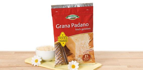 Grana Padano, gerieben, Juli 2012