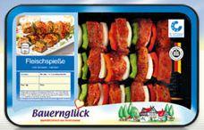 Fleischspieße mit Paprika und Zwiebeln, Mai 2011