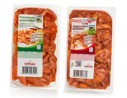 Wok-Pfannenstreifen, Schweinefleisch mit Kräutern, Februar 2014