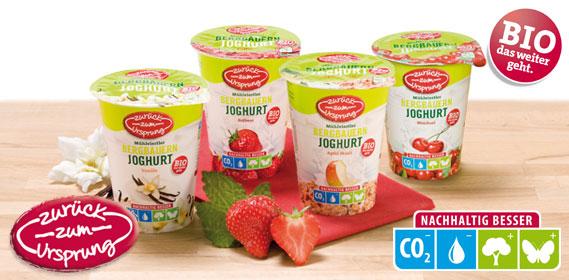 Bio-Bergbauern Frucht- joghurt 3,5 %, Dezember 2013