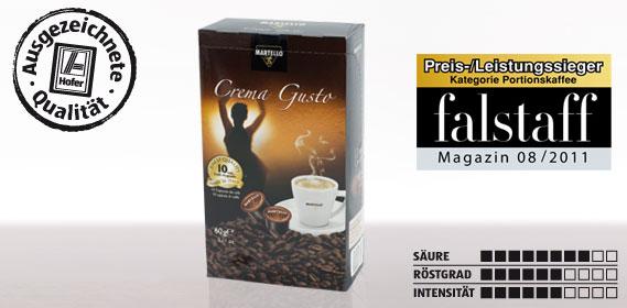 Kaffee-Kapsel Crema Gusto, Februar 2012