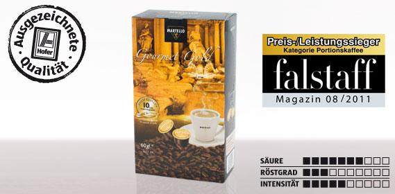 Kaffee-Kapsel Gourmet Gold, Februar 2012