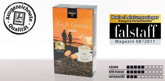 Kaffee-Kapsel Café Grande Lungo, Februar 2012