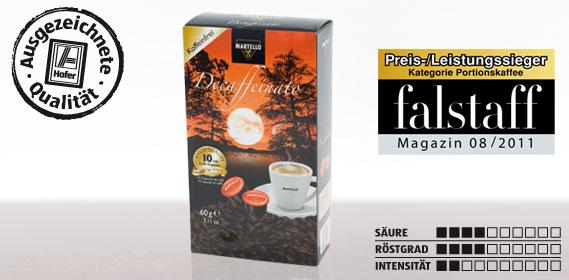 Kaffee-Kapsel Decaffeinato, Februar 2012