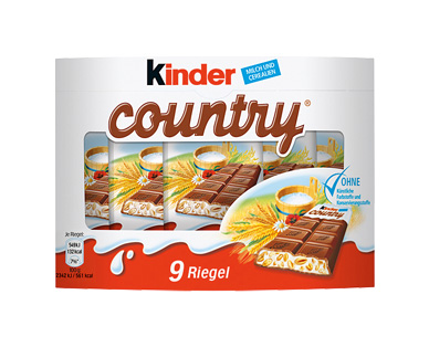 Kinder Country, 9x 23,5 g, M�rz 2017