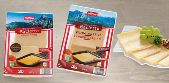 Traunsteiner Raclette, in Scheiben, Dezember 2013
