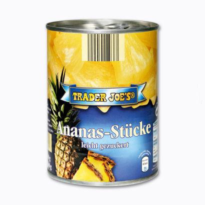 Ananas-Stücke, Oktober 2012
