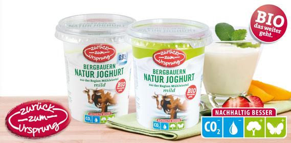 Bio-Bergbauern Naturjoghurt, Februar 2012