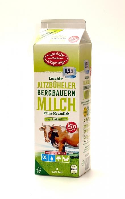 Bio-Bergbauern Milch 0,9 % Fett, länger frisch, Januar 2012