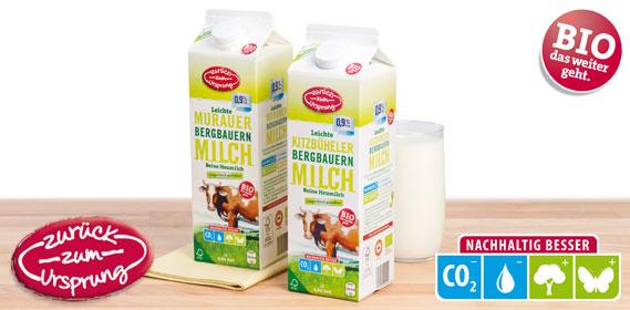 Bio-Bergbauern Milch 0,9 % Fett, länger frisch, Dezember 2013