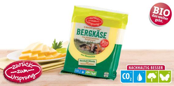 Bio-Bergbauern Bergkäse 50 % Fett i.T., Februar 2012