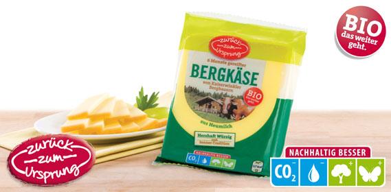 Bio-Bergbauern Bergkäse 50 % Fett i.T., Januar 2014
