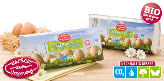 Bio-Freiland-Eier, Februar 2012