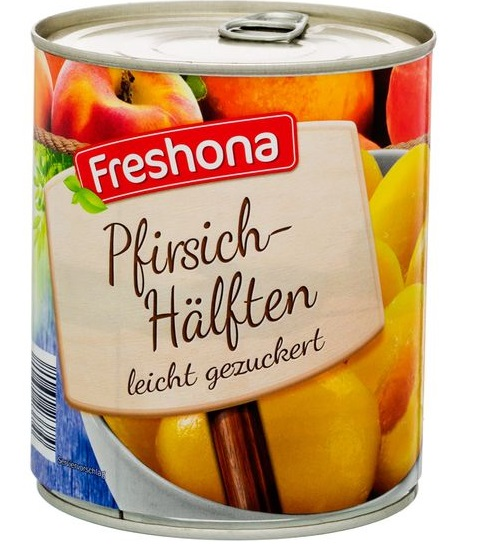 Pfirsich-Hälften, Juni 2017